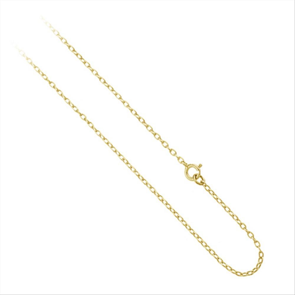 627fd6e7e Yellow Gold Flashed Sterling Silver 1mm Thin Cable Rolo Chain Necklace 24  Inches