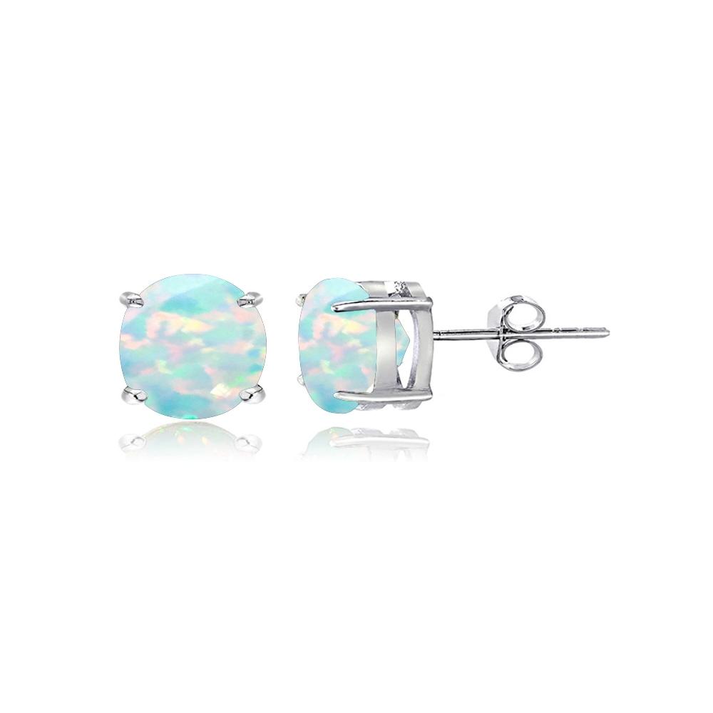 sterlingsilber erzeugt wei en opal 5mm runde ohrstecker ohrringe ebay. Black Bedroom Furniture Sets. Home Design Ideas