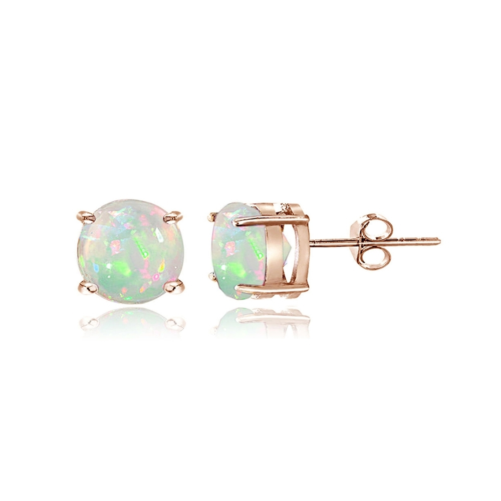 Opal Rings In The Form Of A Butterfly