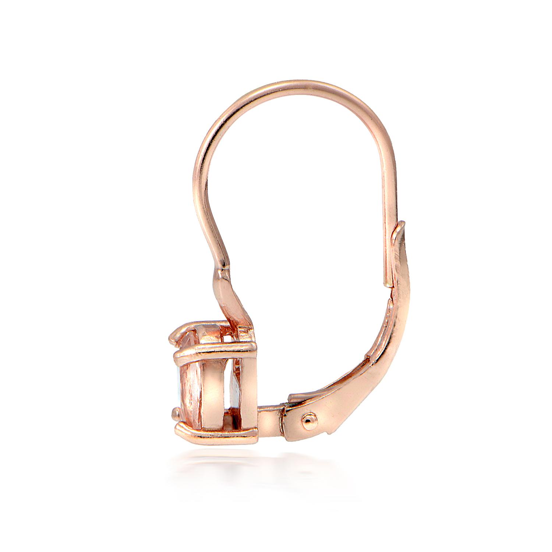 18k rose gold ber sterlingsilber morganit oval brisuren ohrringe ebay. Black Bedroom Furniture Sets. Home Design Ideas