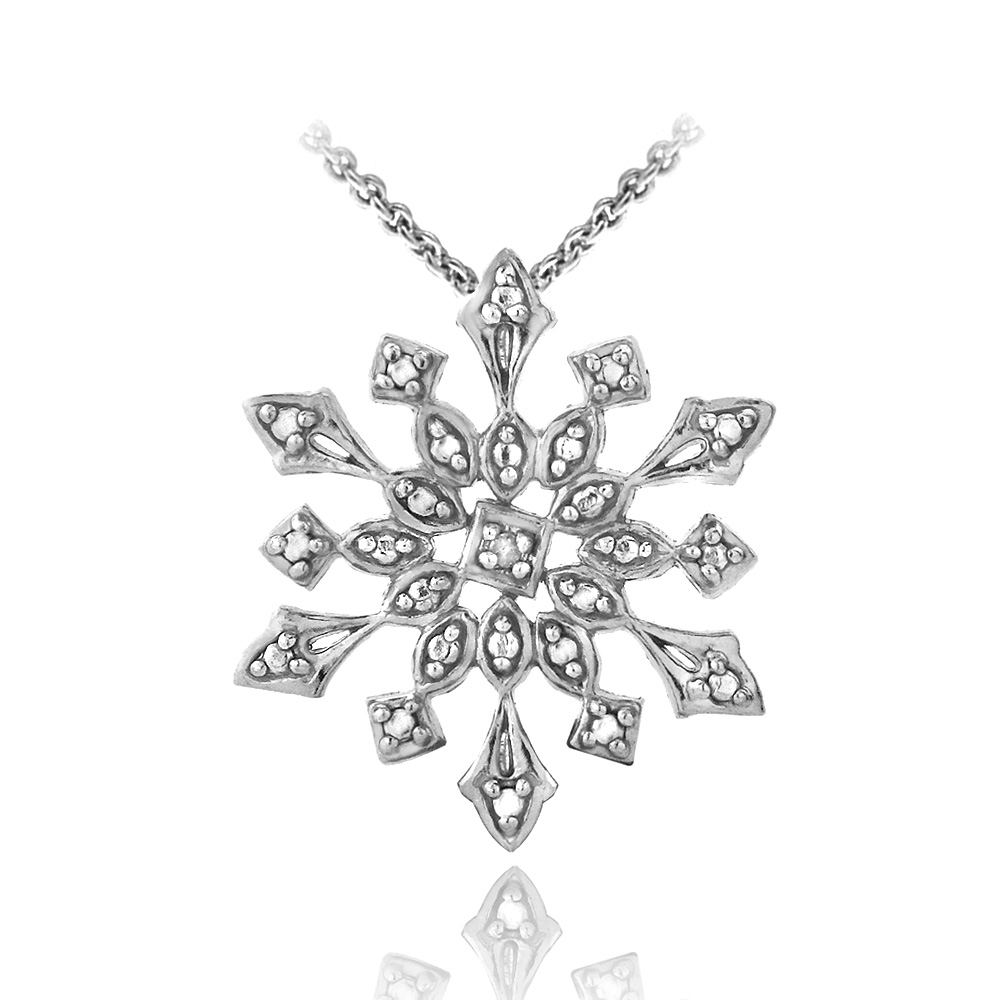 necklace silver avanti snowflake image winter designed necklaces