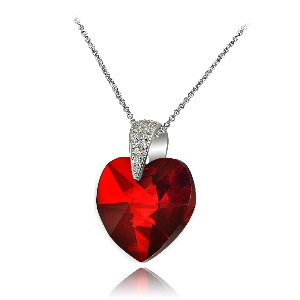 red bridal crystal swarovski teardrop ruby bridesmaid siam media pendant jewelry necklace
