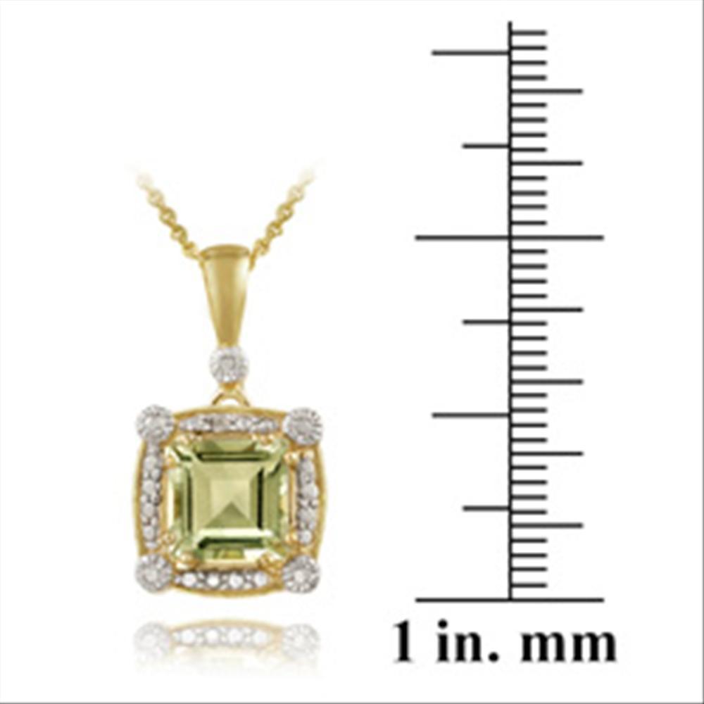 18k gold ber 925 silber gr ner amethyst diamant anh nger ebay. Black Bedroom Furniture Sets. Home Design Ideas