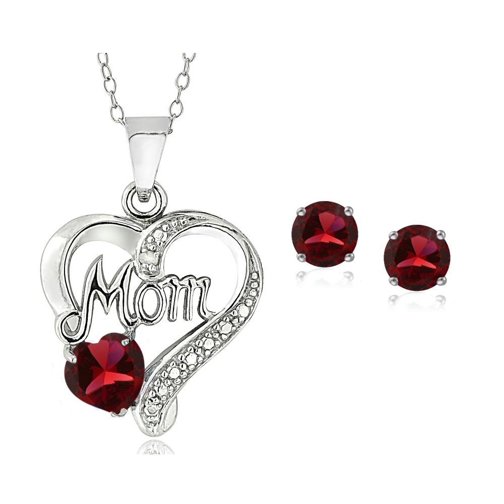 925 Créé Opale /& Rose Saphir Diamant Accent Oval Collier