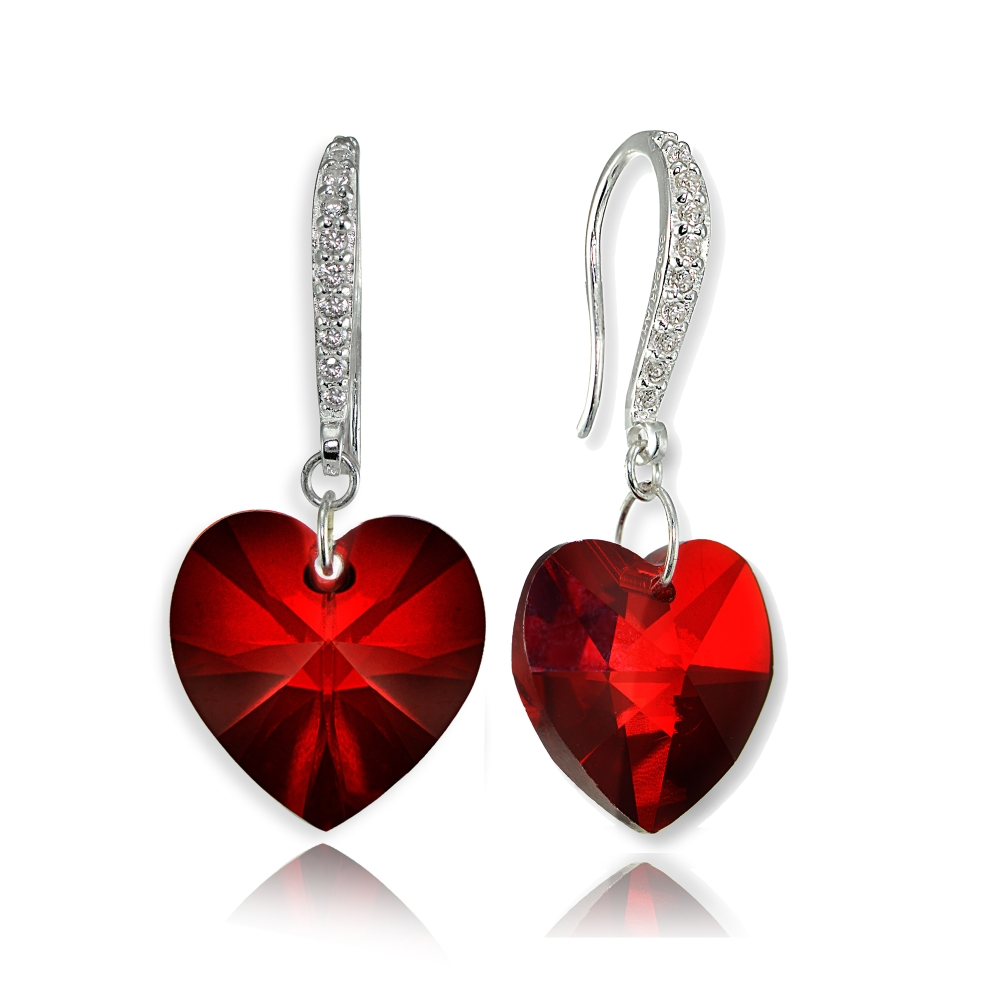 39027d5fb Sterling Silver Red Heart Necklace Earrings Set Created With. Love This Red  Heart Pendant Necklace Drop Earrings With Swarovski Crystals