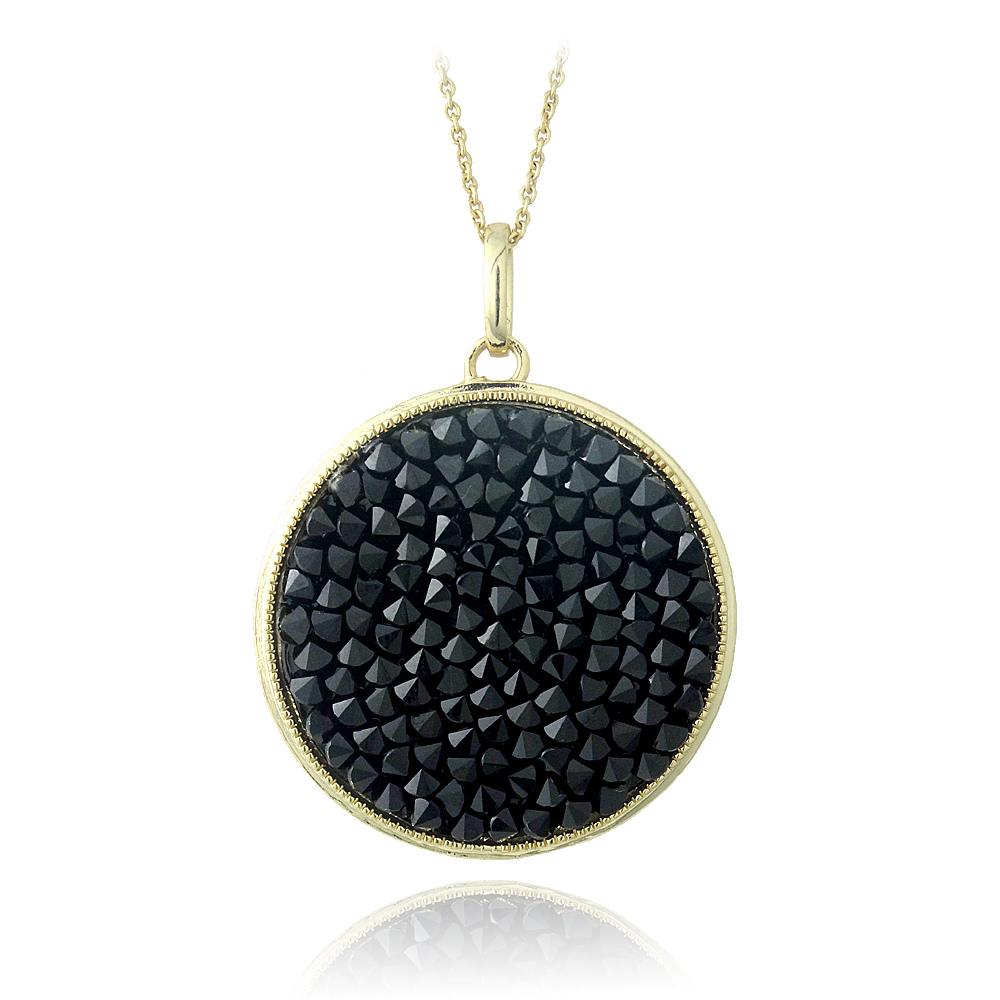 af34e07f7e4ce Details about Crystal Ice Black Crystal Rocks Necklace Made with Swarovski  Elements